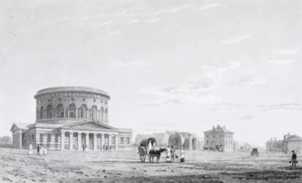 Picturesque Views of the City of Paris Vol. 2 - Barrier St. Martin, with the Rotunda of the Canal de l'Ourcq (1823)