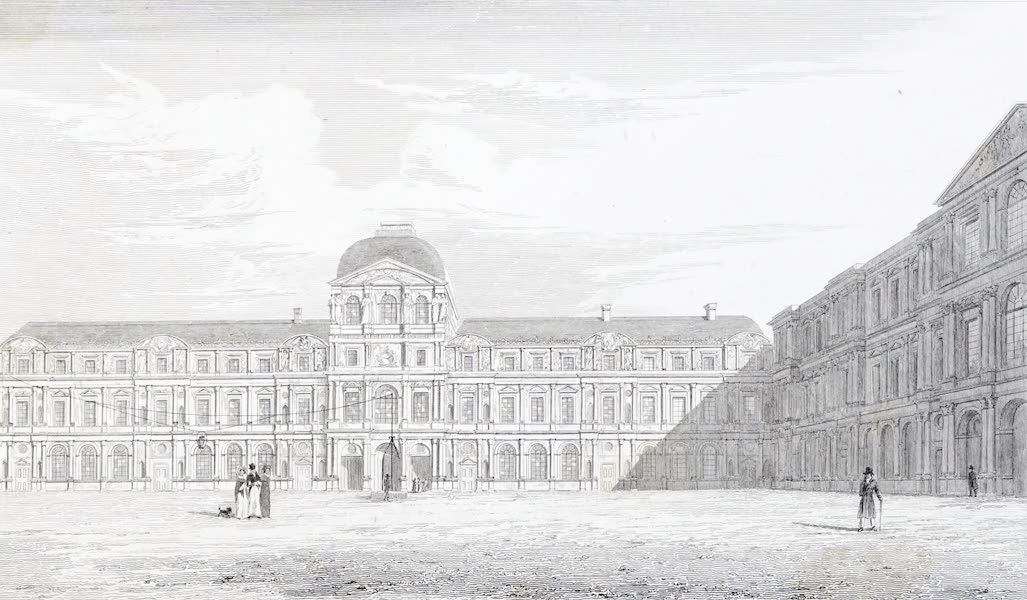 Picturesque Views of the City of Paris Vol. 2 - Court of the Louvre (1823)