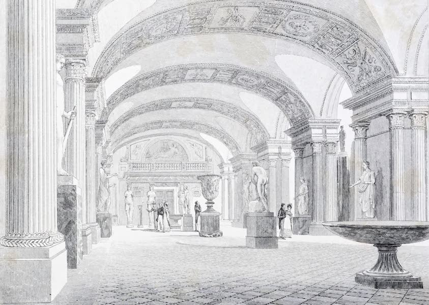 Picturesque Views of the City of Paris Vol. 2 - Interior of the Louvre, Hall of the Caryatides (1823)