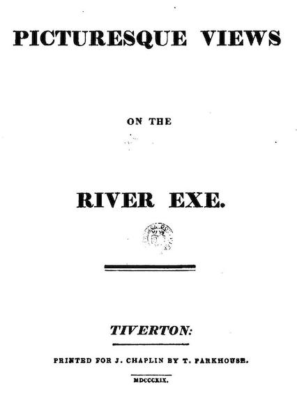 Picturesque Views on the River Exe - Title Page (1819)