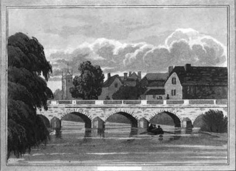 Picturesque Views on the River Exe - Tiverton Bridge (1819)