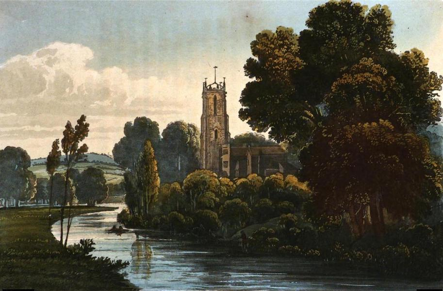 Picturesque Views on the River Exe - View of the Tower and Surrounding Scenery from Exe Bridge, Tiverton (1819)