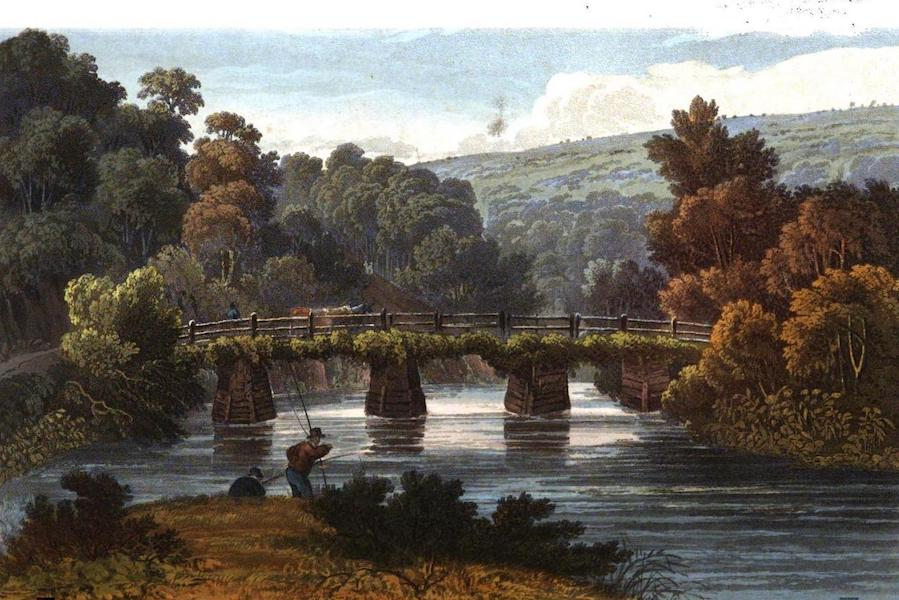 Picturesque Views on the River Exe - Oakford Bridge on the Exe (1819)