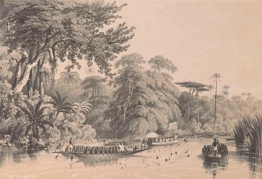 Picturesque Views on the River Niger - Procession to Ibu (1840)