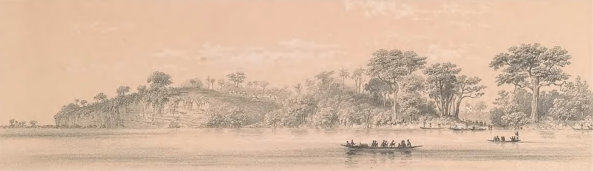 Picturesque Views on the River Niger - Cliffs at Attah (1840)