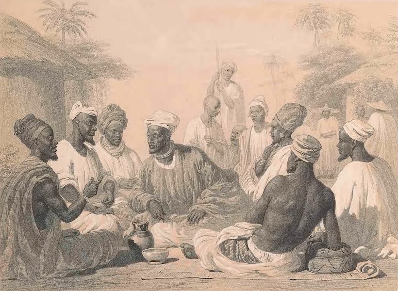 Picturesque Views on the River Niger - The Palaver (1840)