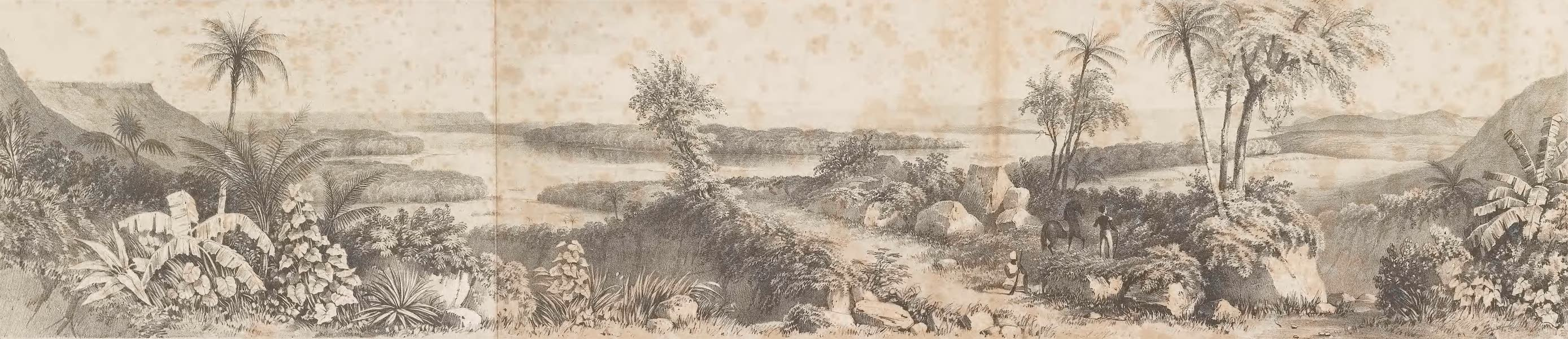 Picturesque Views on the River Niger - The Confluence of the Rivers Niger and Chadda (1840)