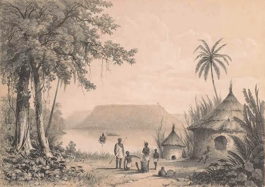 Picturesque Views on the River Niger - Mount Patteh from Bangadeh (1840)