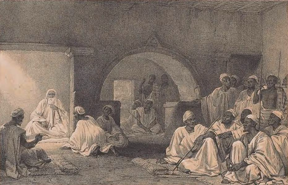 Picturesque Views on the River Niger - The Interior of the Chief Malem's House (1840)