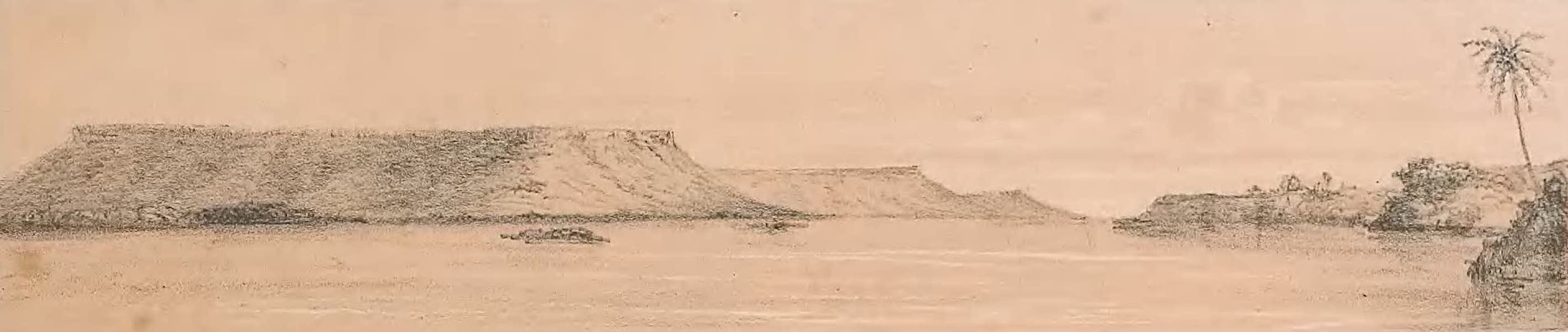 Picturesque Views on the River Niger - Six Miles Below the Confluence Looking Up the River (1840)