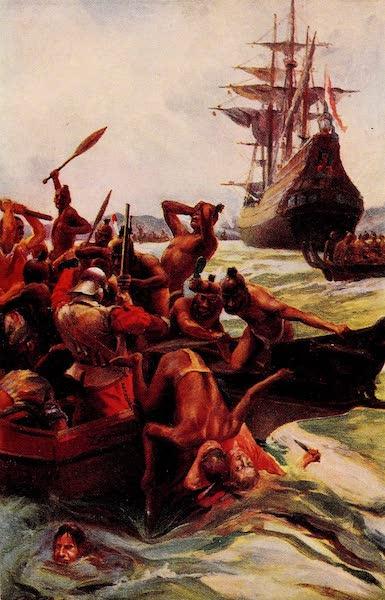 Tasman's Men Attacked By Natives Off the Coast of New Zealand