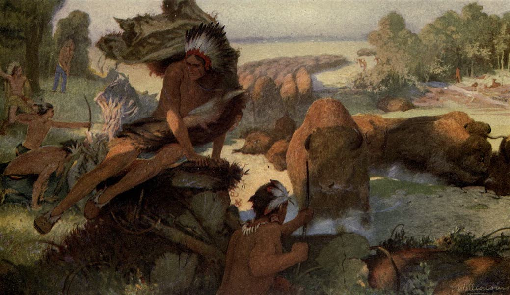 Pioneers in Canada - Indians Hunting Bison (1912)