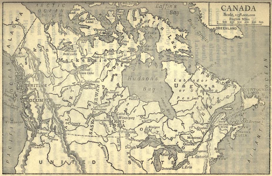 Pioneers in Canada - Map of Canada (1912)