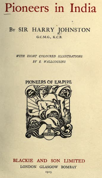 Pioneers in India - Title Page (1913)