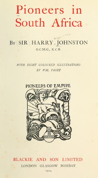 Pioneers in South Africa - Title Page (1914)