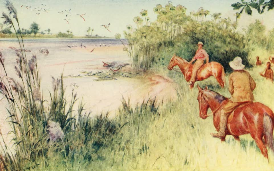Pioneers in South Africa - Livingstone and Oswell Reach the Zambezi at Sesheke (1914)