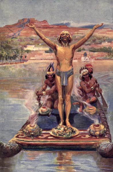 Pioneers in Tropical America - This Golden Being Embarked Upon a Raft (1914)