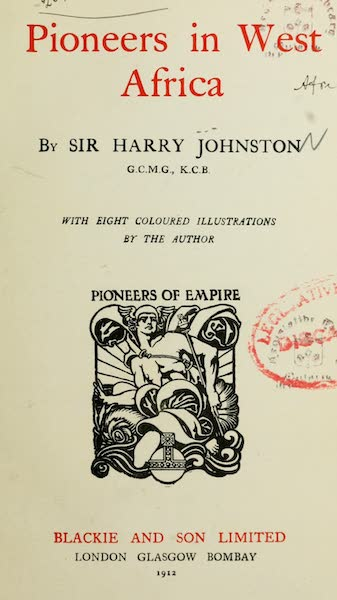 Pioneers in West Africa - Title Page (1912)