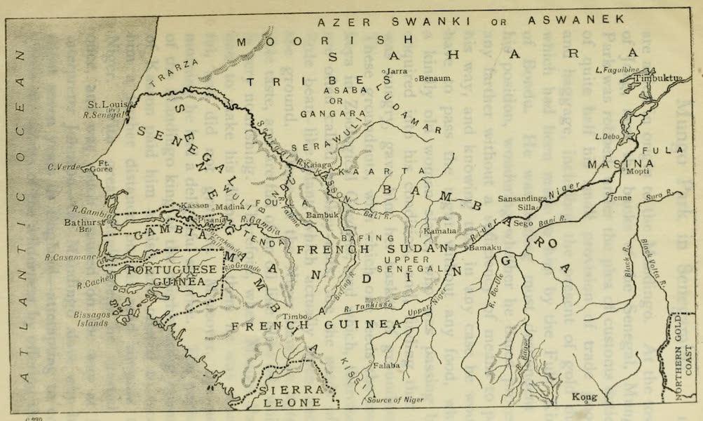 Pioneers in West Africa - Map of the Senegambia Region (1912)