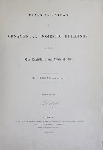 Great Britain - Plans and Views of Ornamental Domestic Buildings