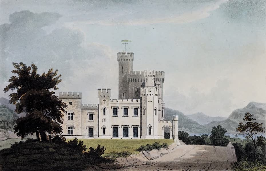Plans and Views of Ornamental Domestic Buildings - Tillicheun, Dumbartonshire [South Front] (1836)