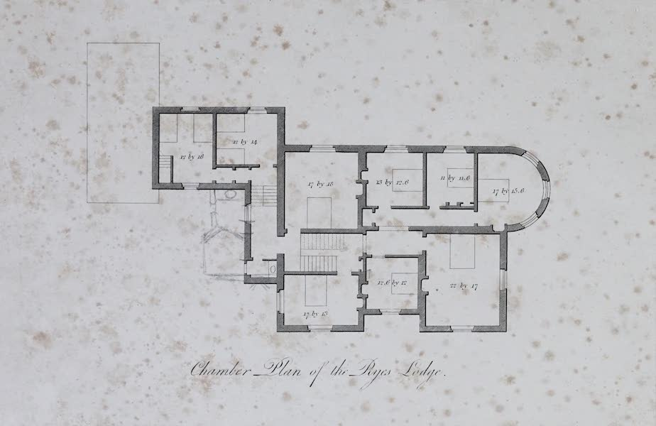 Plans and Views of Ornamental Domestic Buildings - Chamber Plan of the Ryes Lodge (1836)