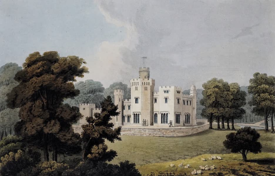 Plans and Views of Ornamental Domestic Buildings - Balloch Castle, Dumbartonshire [South-West View] (1836)
