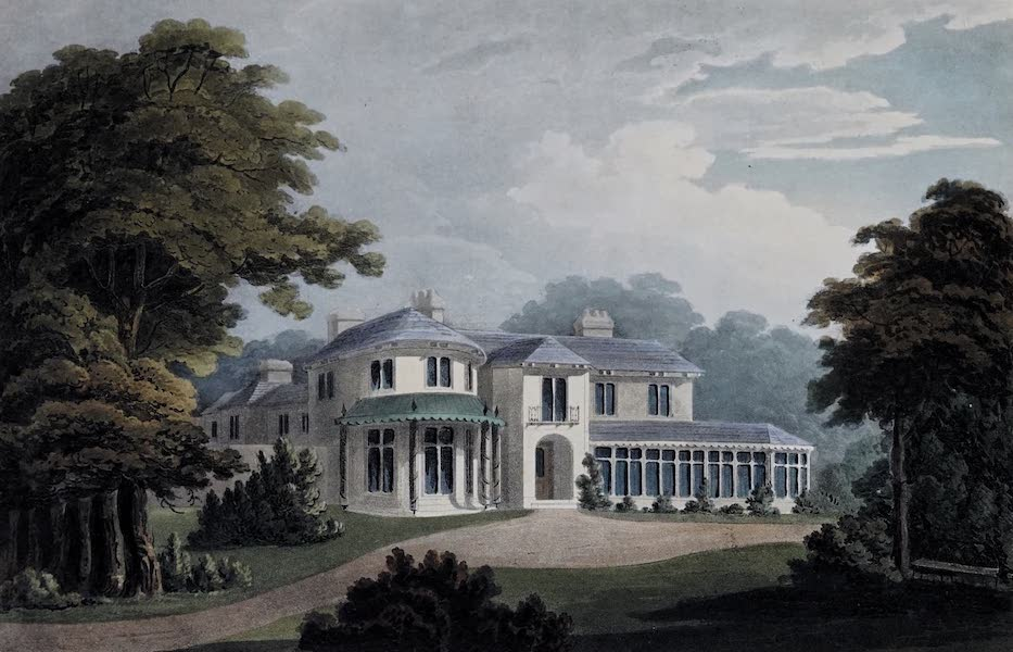 Plans and Views of Ornamental Domestic Buildings - Brandon Cottage, near Coventry, Warwickshire [South-West View] (1836)