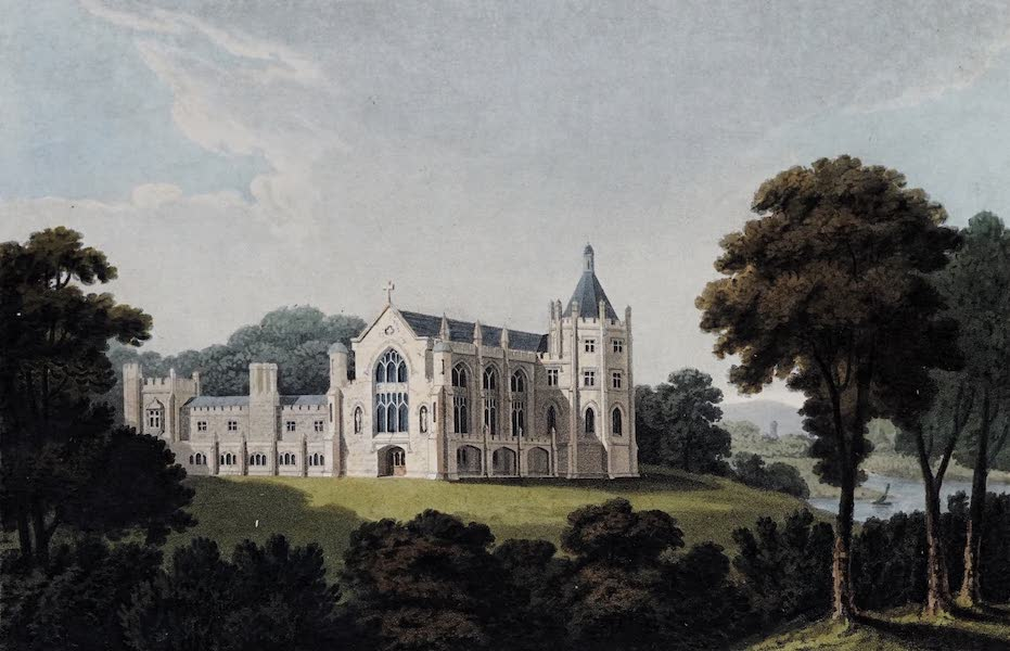 Plans and Views of Ornamental Domestic Buildings - Balloch Abbey, Dumbartonshire [North-West View] (1836)