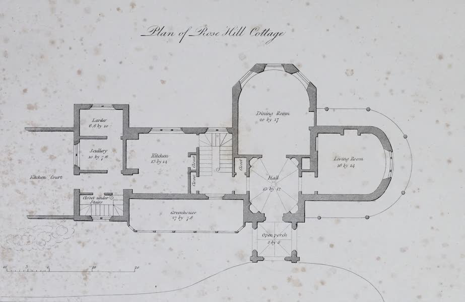 Plans and Views of Ornamental Domestic Buildings - Plan of Rose Hill Cottage (1836)