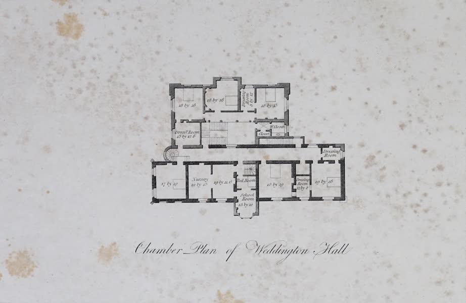 Plans and Views of Ornamental Domestic Buildings - Chamber Plan of Weddington Hall (1836)