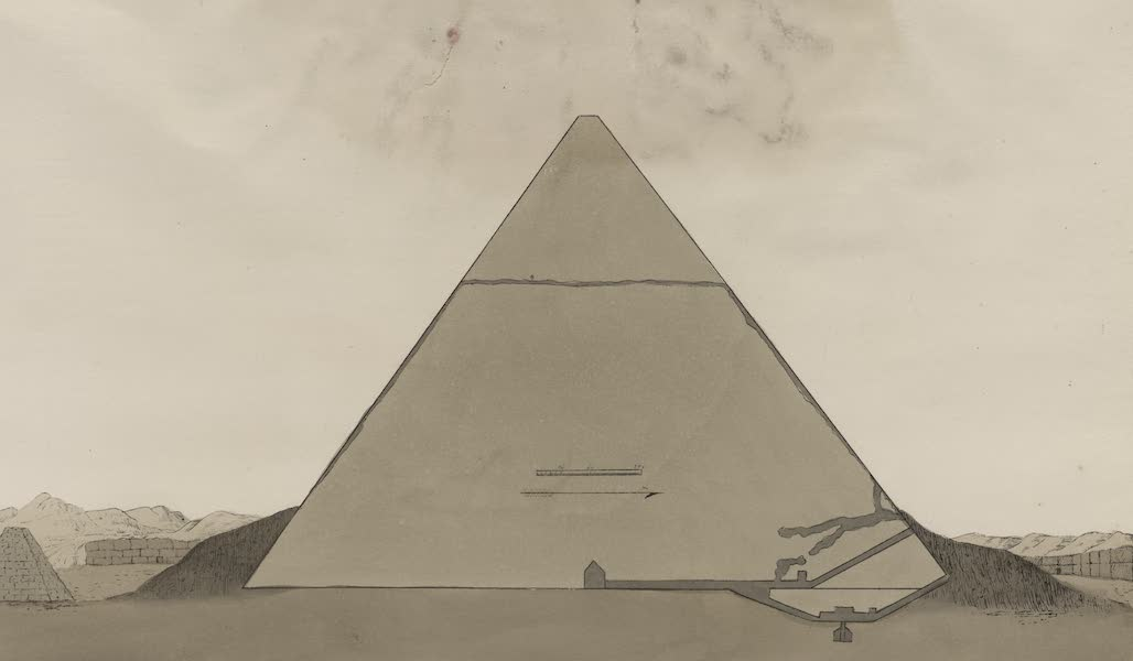 Plates Illustrative of the Researches and Operations of G. Belzoni - Section of the pyramid (1820)