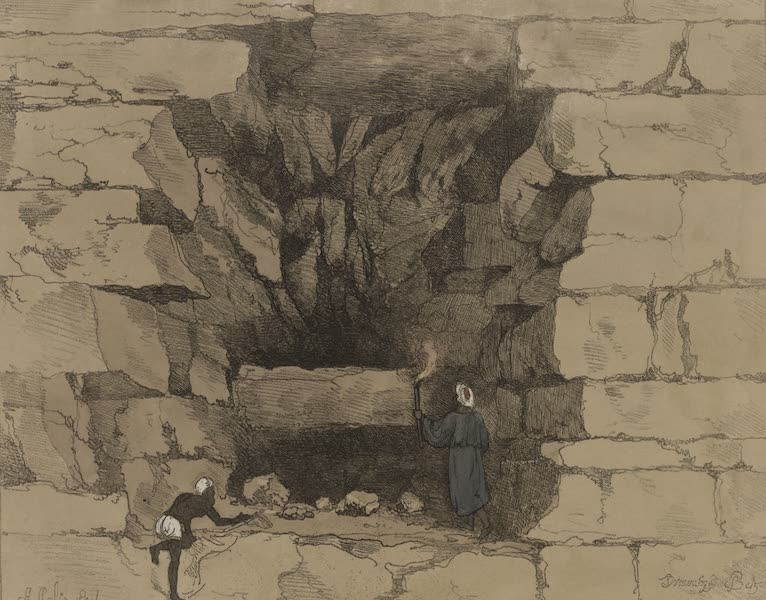 Plates Illustrative of the Researches and Operations of G. Belzoni - Forced passage in to the second pyramid of Ghizeh. Discovered by G. Belzoni, 1818. (1820)