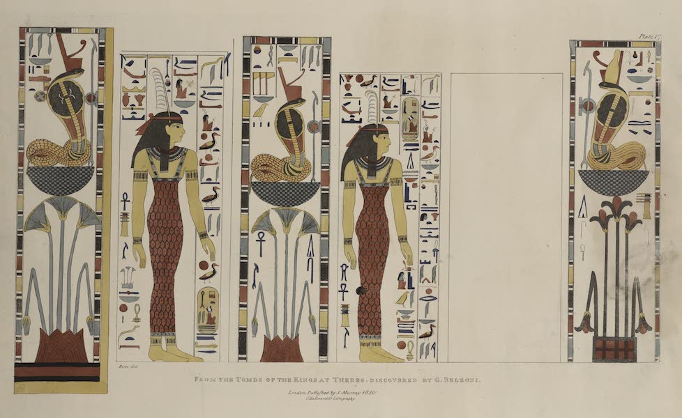 Plates Illustrative of the Researches and Operations of G. Belzoni - From the tomb of the kings at Thebes, discovered by G. Belzoni (1820)