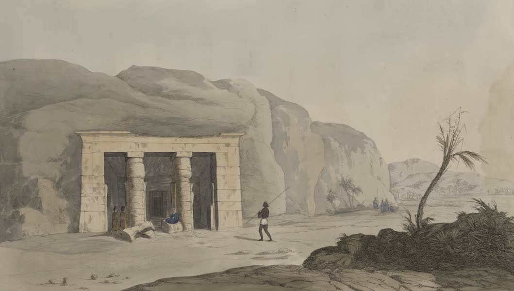 Plates Illustrative of the Researches and Operations of G. Belzoni - Temple on the road to Berenice on the Red Sea (1820)