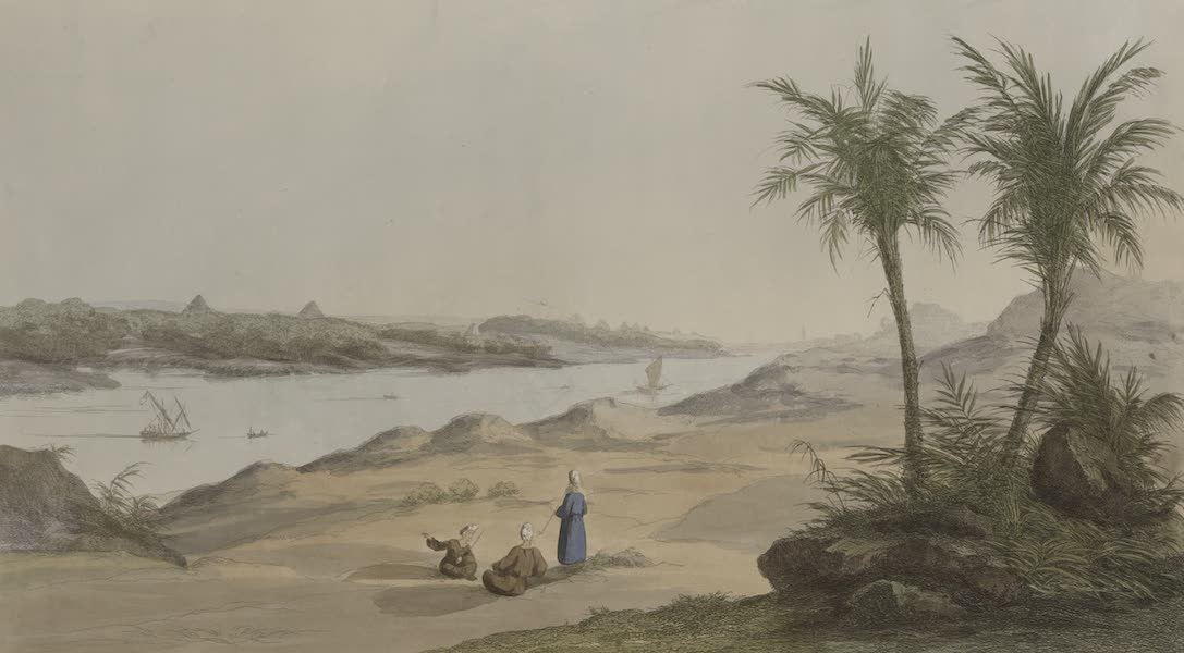 Plates Illustrative of the Researches and Operations of G. Belzoni - General view of the pyramids (1820)