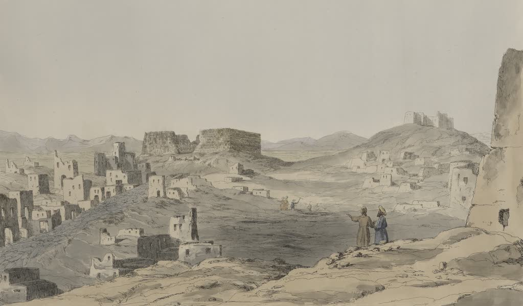 Plates Illustrative of the Researches and Operations of G. Belzoni - City of Baccus on the Lake Moeris (1820)