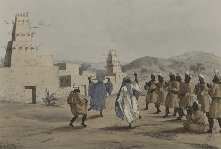 Plates Illustrative of the Researches and Operations of G. Belzoni - Arabac dance (1820)