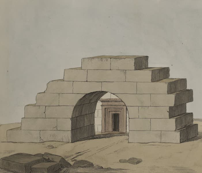 Plates Illustrative of the Researches and Operations of G. Belzoni - No. 1 - Egyptian arch in Thebes (1820)
