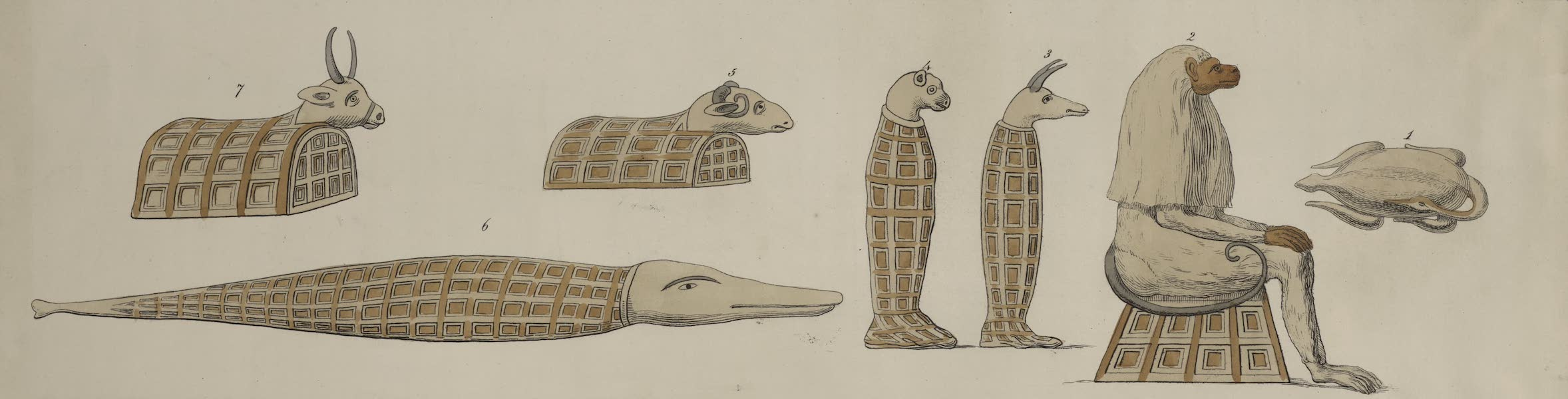 Plates Illustrative of the Researches and Operations of G. Belzoni - No. 2 - Egyptian arch in Thebes (1820)