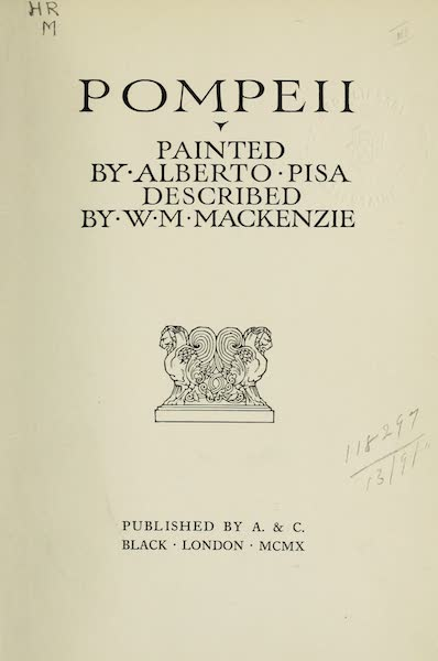 Pompeii, Painted and Described - Title Page (1910)