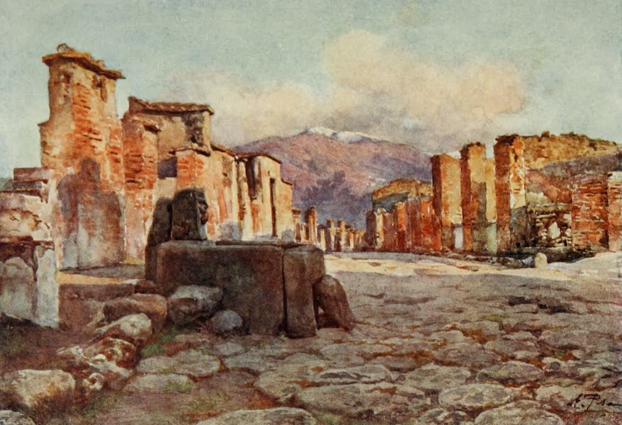 Pompeii, Painted and Described - Consular Street (1910)