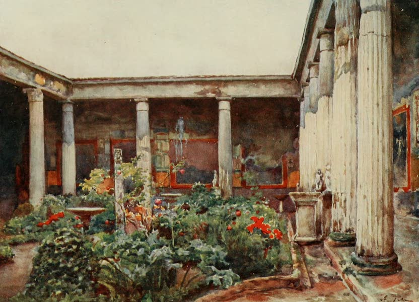 Pompeii, Painted and Described - Peristyle of the House of the Vettii (1910)