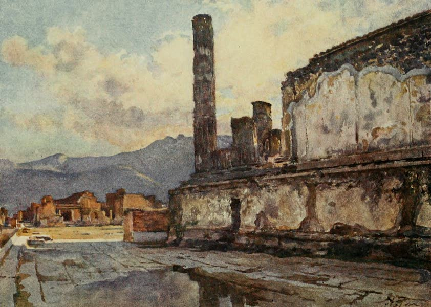 Pompeii, Painted and Described - Temple of Jupiter, Juno, and Minerva in the Forum (1910)