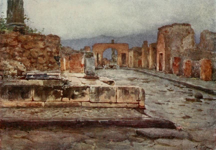 Pompeii, Painted and Described - The Temple of Fortuna Augusta (1910)