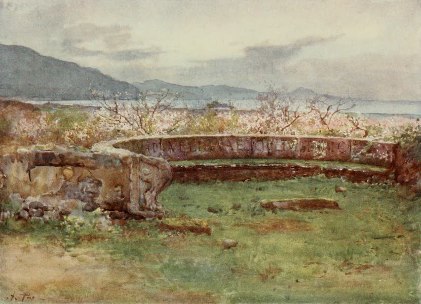 Pompeii, Painted and Described - Semicircular Bench Tomb  (1910)
