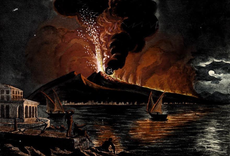 Porte-Feuille Geographique et Ethnographique [Atlas] - Eruption du Vesuve en 1810 (1820)