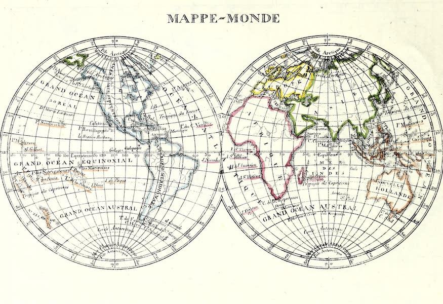 Porte-Feuille Geographique et Ethnographique [Atlas] - Mappe Monde (1820)