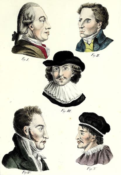 Porte-Feuille Geographique et Ethnographique [Atlas] - [Assorted Facial Profiles - I] (1820)