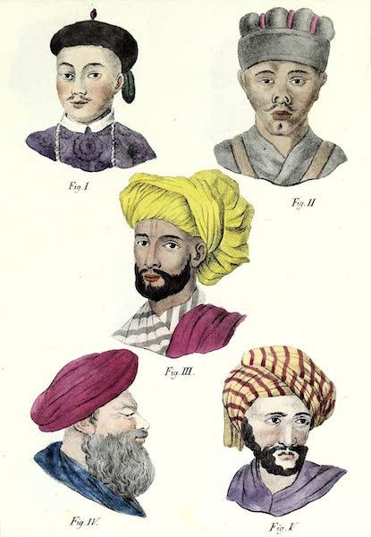 Porte-Feuille Geographique et Ethnographique [Atlas] - [Assorted Facial Profiles - II] (1820)